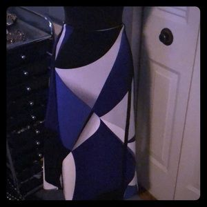 Worthington 12t pencil skirt blue black